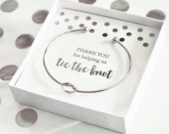 Silver Knot Bracelet Silver Tie the Knot Bracelet (EB3145SLV)