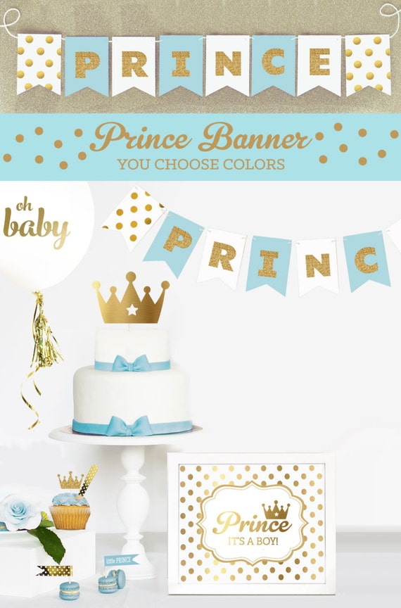 prince baby shower decorations little prince baby shower banner