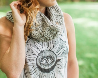 The Campfire Cowl | Chunky Cowl, Circle Scarf, Knit Cowl
