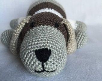 Striped dog amigurumi PDF pattern crochet Englisch and Dutch