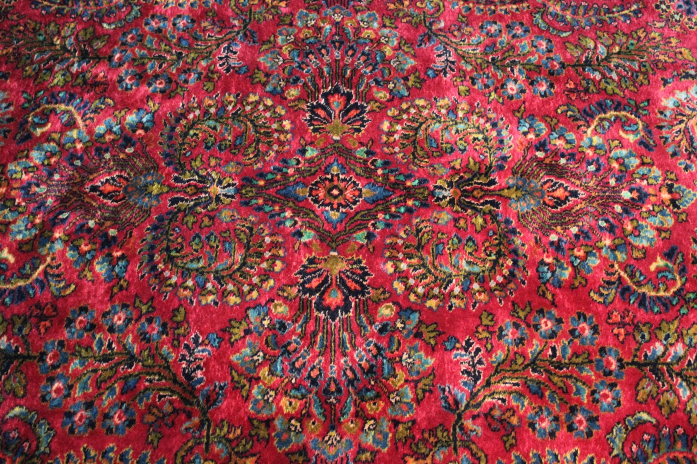 9x12 Rug Karastan Rug Vintage Red Sarouk Area Rug Beautiful