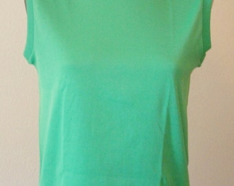 Vintage Kelly Green Sleeveless Top