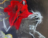 Halloween Decor, Vintage Halloween Print, Embellished Vision of Death Doré Engraving