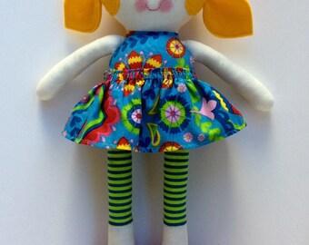 Handmade doll, cloth doll, rag doll, fabric doll,