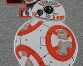 Looks like BB-8 Droid Birthday shirt,The Force awakens, Personalize with name and number Great for those birthday pictures, special keepsake