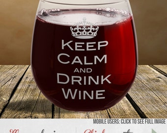 Wine Glasses Etched Saying - Mothers Day Gift
