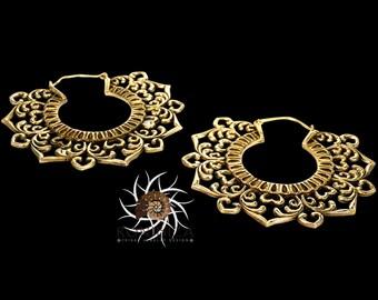 Brass Earrings - Brass Hoops - Gypsy Earrings - Tribal Earrings - Ethnic Earrings - Indian Earrings - Tribal Hoops - Indian Hoops EB88