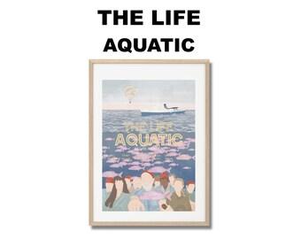 Affiche de film La Vie Aquatique - Poster Wes Anderson A3