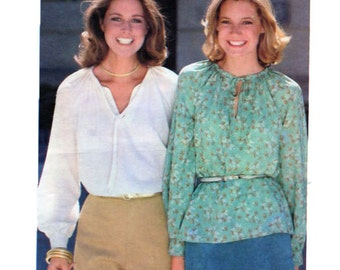 Womens, Peasant, Blouse, Top, Sewing Pattern, Butterick 5656, Raglan, Long Sleeve Top, Size 14, Bust 36, 70s, Vintage Sewing Pattern