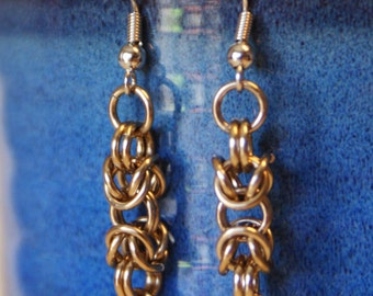 Byzantine chainmaille earrings, Aluminum earrings, byzantine jewelry, chainmaille earrings