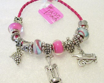 1322 - NEW - Wine Lover Bracelet