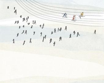Winter Ski Print, 11x17