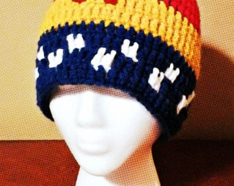 Wonder Woman Crochet Hat/Wonder Woman Inspired Slouchy/Stars & Stripes/Wonder Woman Handmade Hats/Wonder Woman Cosplay/Wonder Woman Costume