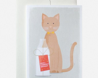 Have a Purrrrfect Birthday Cat Greeting Card