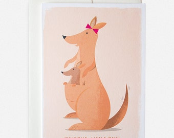 Kangaroo New Baby Greeting Card