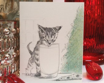 Tabby Kitten Holiday Card