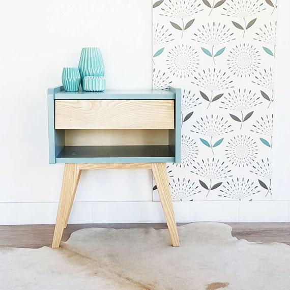 table de chevet scandinave et vintage table de nuit. Black Bedroom Furniture Sets. Home Design Ideas