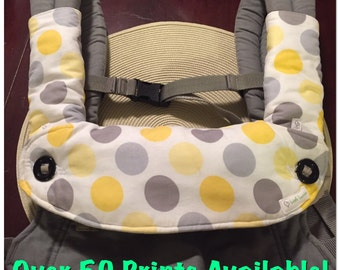 Ergo 360 Drool/Teething Cover ***Vinyl Backing Option, Optional Strap Covers, More Patterns Available!!***