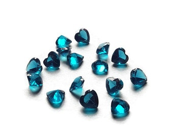 December Birthstone Crystal Heart Floating Charm for Floating Lockets-Capri Blue-5mm-1 Piece-Gift Ideas