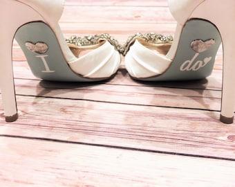Wedding Shoe Decals / I Do Shoe Decals