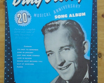 Bing Crosby sheet music 1950's Bing Crosby's 20th musical anniversary vintage sheet music
