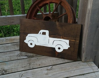 Family Sign - Old Truck Sign - Classic Car Decor - Rustic Truck Sign - Gift for Home - Truck Wall Art - Gift for Him - Spring Sign