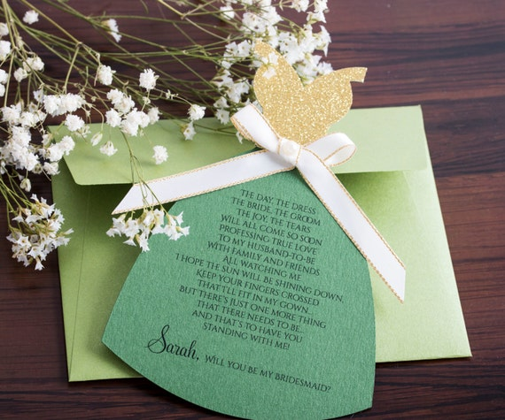 Garden Party Invitation  Bridal Party Invitation. Bridesmaid Card. Will You be my in my bridal party Maid of Honor Card. Bridesmaid Gift