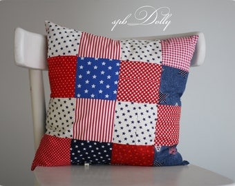 Patchwork Pillow  Quilted Pillow - handmade Quilted Cushion - handmade Quilted Pillow - a gift for boy or girl - different styles