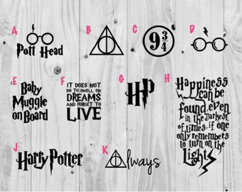 Harry Potter Decals (Choose from styles shown)