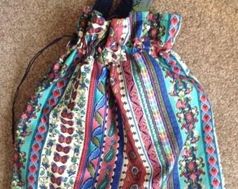 Floral Project Bag