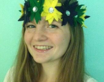 Mardi Gras Flower Headband