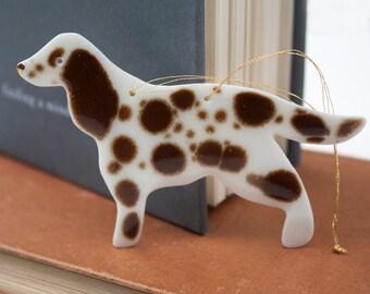 Handmade Porcelain Spaniel Dog Hanging Decoration