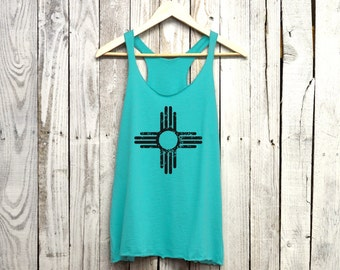 New Mexico Tank Top. Triblend Racerback Tank. New Mexico.