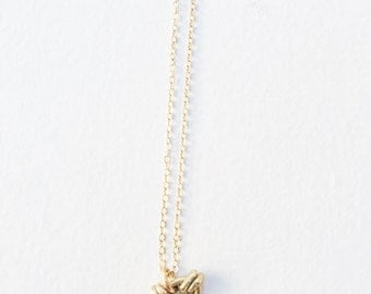 Double Brass Knot Necklace