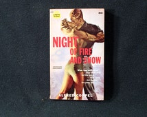 Night Of Fire And Snow by Alfred Coppel Vintage 1960 Gothic Adventure Paperback Crest Giant Books 1st Printing Nice! SCARCE!