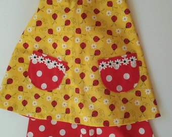 Reversible Top 2-Piece Summer Toddler Outfit