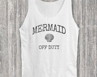 Mermaid Of Duty tank top seashell shirt women tank top sleeveless singlet size S M L