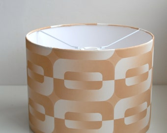 Retro Lampshade Handmade with Vintage Wallpaper