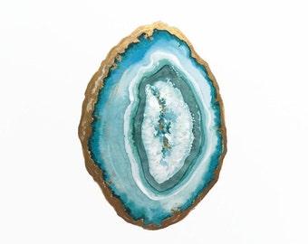Emerald Agate Slice Print, Agate Art, Mineral Art, Crystal Art, Druzy Art, Gem Art, Gemstone Print, Crystal Print