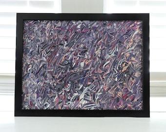 Purple Abstract Canvas Painting | 12 x 16 Art |Acrylic Painting | Home Decor | Wall Art Art | Corbett Abstract # 76