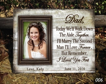 WALK Parents wedding gift, Parents of the bride, Father of the bride, mother of the bride gift, Thank you gift, Personalized picture Frame