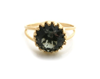 Swarovski Ring, Shadow Swarovski Ring, Gold ring, Bridal Ring, Bridesmaid Jewellery, Bridesmaid Ring, Gift Under 30, Gift for Her
