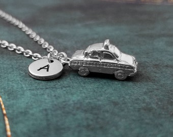 Taxi Necklace SMALL Taxi Cab Necklace Taxi Jewelry Initial Necklace Charm Necklace Pendant Necklace Delivery Car Necklace Personalized Gift
