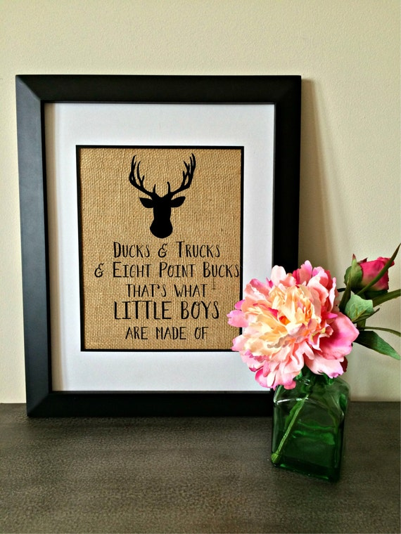 Baby Boy Nursery Decor Deer Duck Buck Rustic Nursery Country
