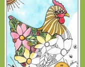 chickens, coloring book, adult coloring book, chicken coloring book, hobby and craft, relaxation