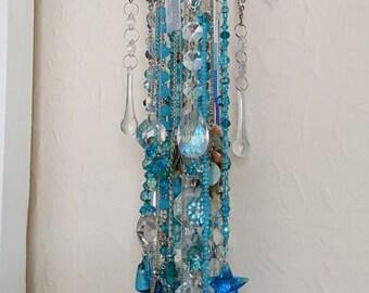 Turquoise Delight - Sun-Catcher - Chime, Elegant Crystal Wind Chime, Garden Decoration, Window Decoration