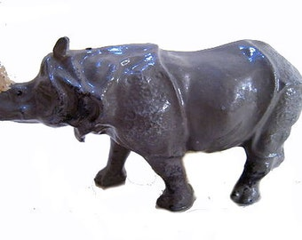 1930s Britains 908 Rhinoceros in Lead