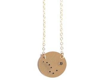 True North, True North Necklace, North Star Necklace, Big Dipper Constellation Necklace, Zodiac Necklace