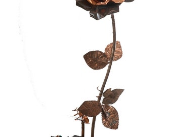 Hand made copper rose