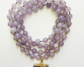 light purple jade necklace